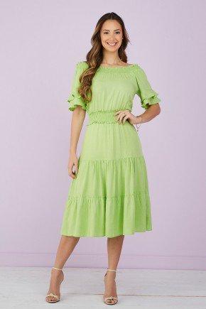 vestido evase com babados verde limao tata martello 7