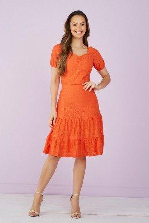 conjunto laranja em laise decote princesa tata martello 7