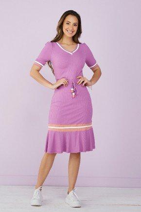 vestido lilas malha canelada detalhe em galao tata martello 6
