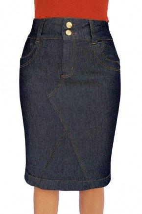 saia jeans marinho recortes frontal dyork jeans 4