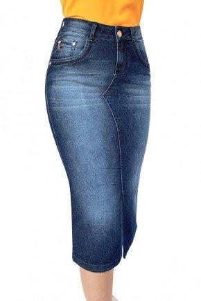 saia feminina midi reta jeans dyork jeans 6