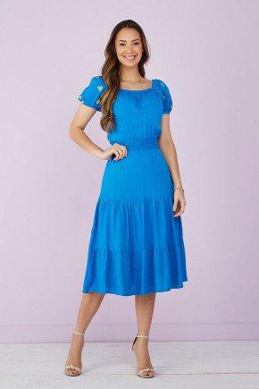 vestido evase azul royal manga coracao 4