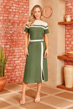 conjunto verde midi com recortes via tolentino 7