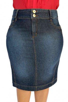 saia feminina jeans reta dyork jeans 5