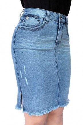saia feminina jeans fendas laterais dyork jeans 4