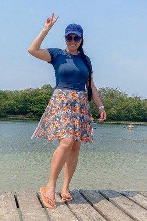 shorts saia moda praia estampado poliamida uv50 kessia lekazis sp0106