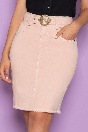 saia barra desfiada jeans color com cinto nitido jeans 6