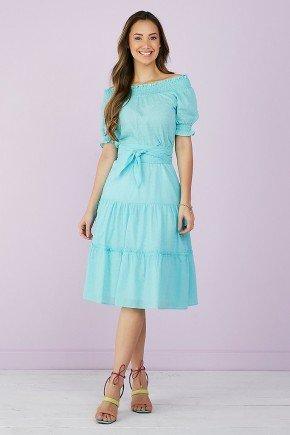 vestido evase azul amarracao 3