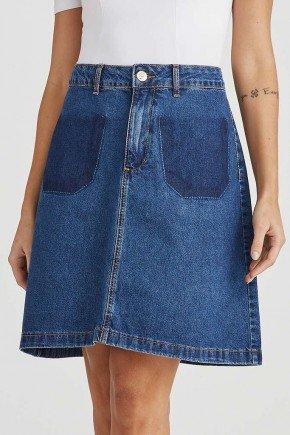 saia jeans evase bolsos falsos 1
