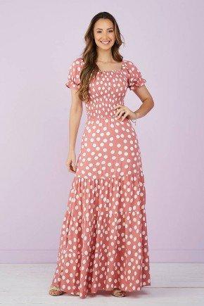 vestido longo rosa poas 7