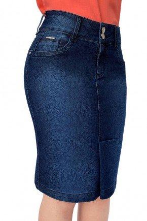 saia jeans reta recortes laterais dyork jeans 7