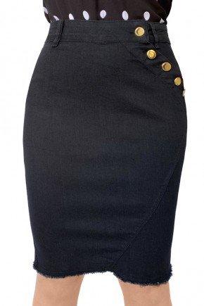 saia feminina jeans secretaria reta dyork jeans 1