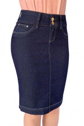 saia feminina jeans classica reta dyork jeans 5