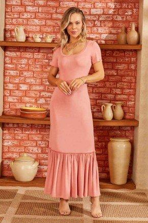 vestido longo rosa com babados via tolentino 7