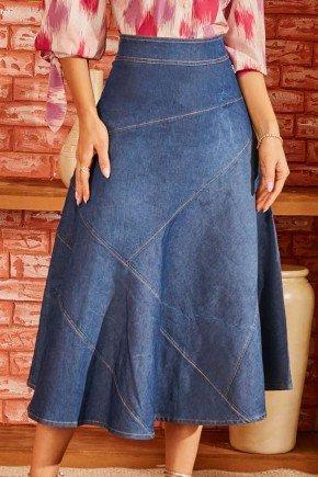 saia jeans max midi com recortes diferenciados via tolentino 7