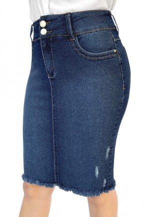saia jeans tradicional detalhe desfiado dyork jeans 8