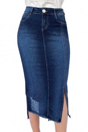saia jeans maxi midi reta abertura lateral dyork jeans 5