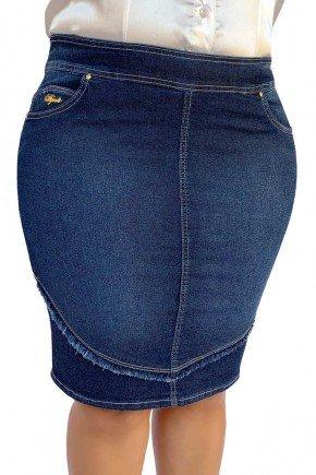 saia jeans recorte desfiado reta dyork jeans 7