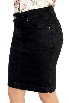 saia jeans preta tradicional dyork jeans 6