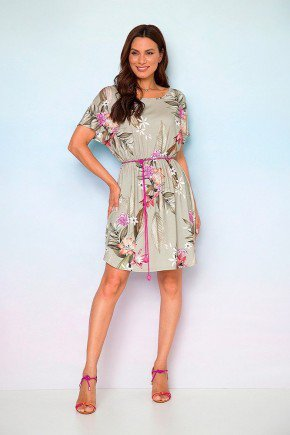 vestido viscolycra estampa floral com shorts e cinto duda 2
