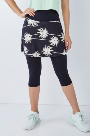 saia corsario moda fitness evangelica preta estampada supplex origial alta compressao epulari 6