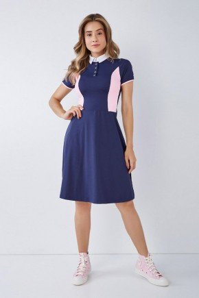 vestido azul gola polo poliamida gode epulari 4