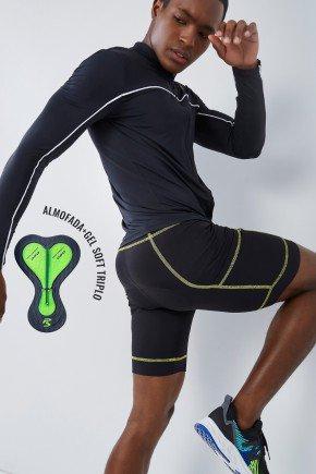 bermuda para ciclismo preta unissex forro gel soft triplo holyfit hf1501 7