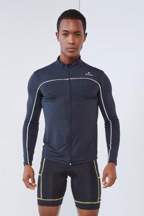 blusa manga longa masculina preta com ziper holyfit hf1301 4