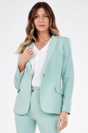 blazer feminino de alfaiataria verde claro scarlet principessa