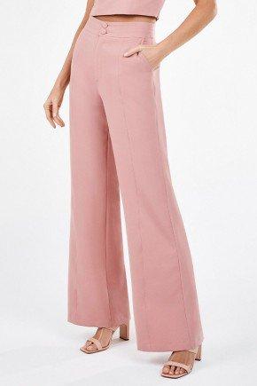 calca pantalona de alfaiataria rosa spencer principessa
