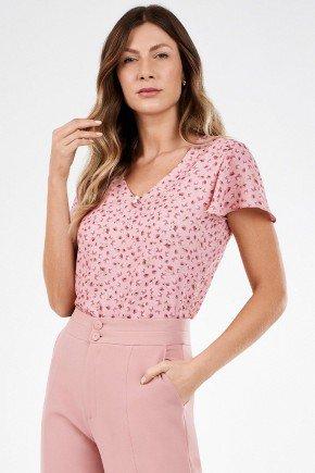 blusa feminina rosa com estampa floral selma principessa1