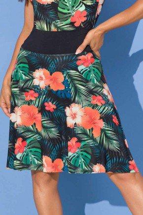 saia shorts estampado fendas laterais 6