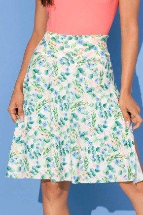 saia shorts estampada flores fendas laterais 4