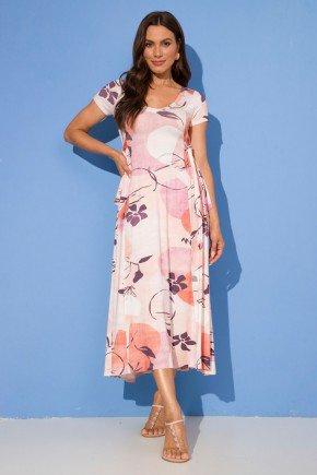 vestido viscolycra longuete floral helena nude lekazis 7
