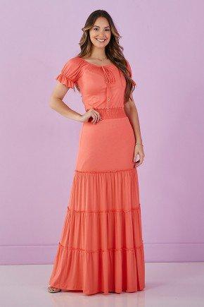 vestido longo coral 2