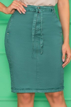 saia verde jeans estonado 9