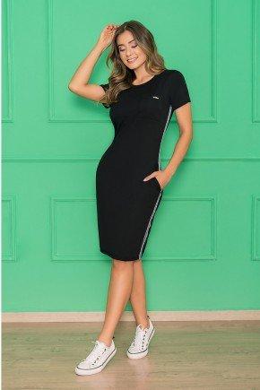 vestido preto reto galao lateral 5