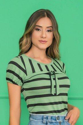 t shirt verde listrada 7