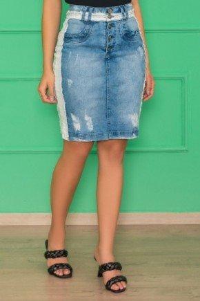 saia jeans despojada com bolso funcional1