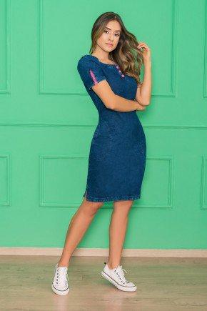 vestido em malha denim azul nitido jeans 7