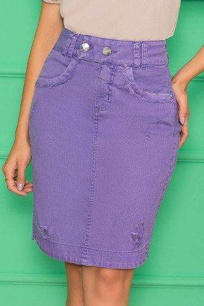 saia secretaria jeans color lilas nitido jeans 4