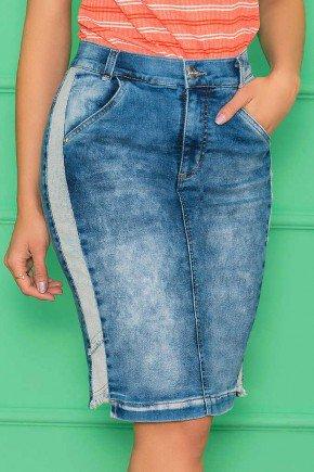 saia jeans com recorte lateral nitido jeans 6