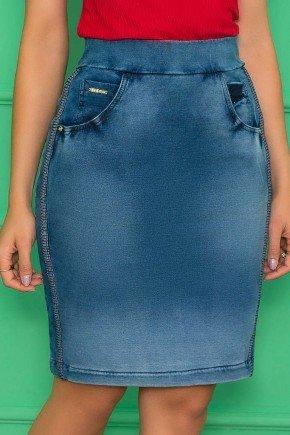 saia em malha denim com cos elastico azul nitido jeans 7