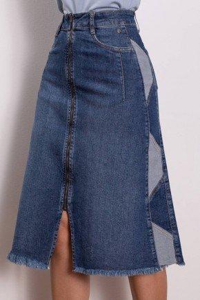 saia jeans com recortes laterais via tolentino 8