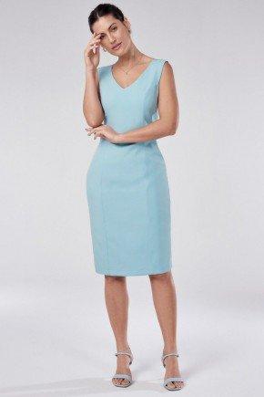 vestido tubinho de alfaiataria azul claro tais principessa1
