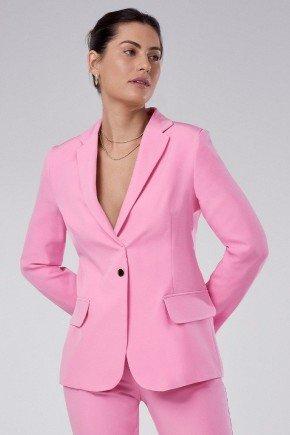 blazer feminino de alfaiataria rosa com martingale taeme principessa1