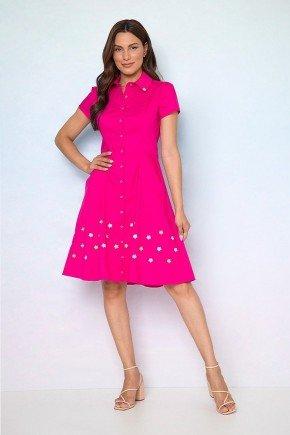 vestido chemise tricoline bordado adrielle 1