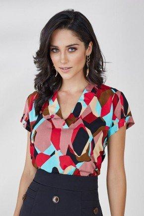 blusa estampada vermelho blush aurea cloa 1