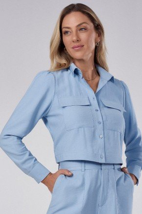 camisa feminina bomber azul com elastico thayssa principessa 1