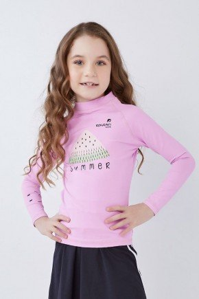 blusa feminina infantil manga longa piscina poliamida uv50 epulari kids1